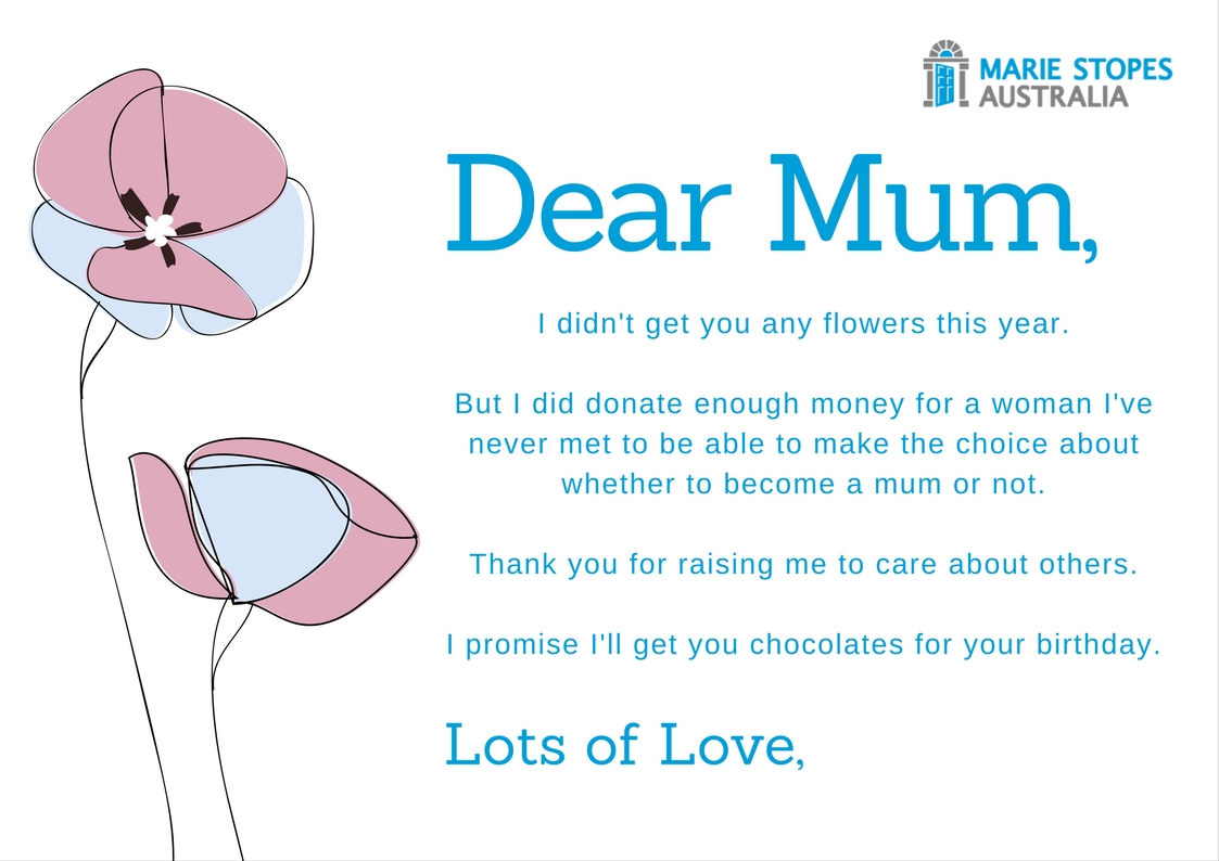 Donate to Charity this Mother's Day Card